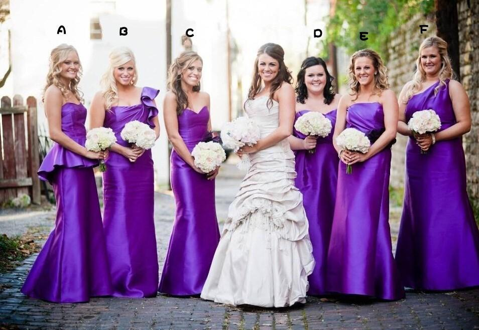 Mermaid Purple Dresses,cheap Bridesmaid Dresses,long Bridesmaids ...